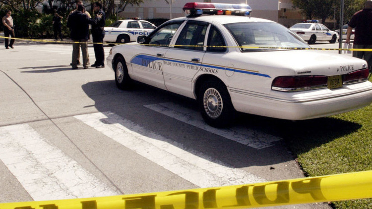 Escena del crimen en Florida donde fueron hallados los tres cadáveres de un presunto asesinato ritual.