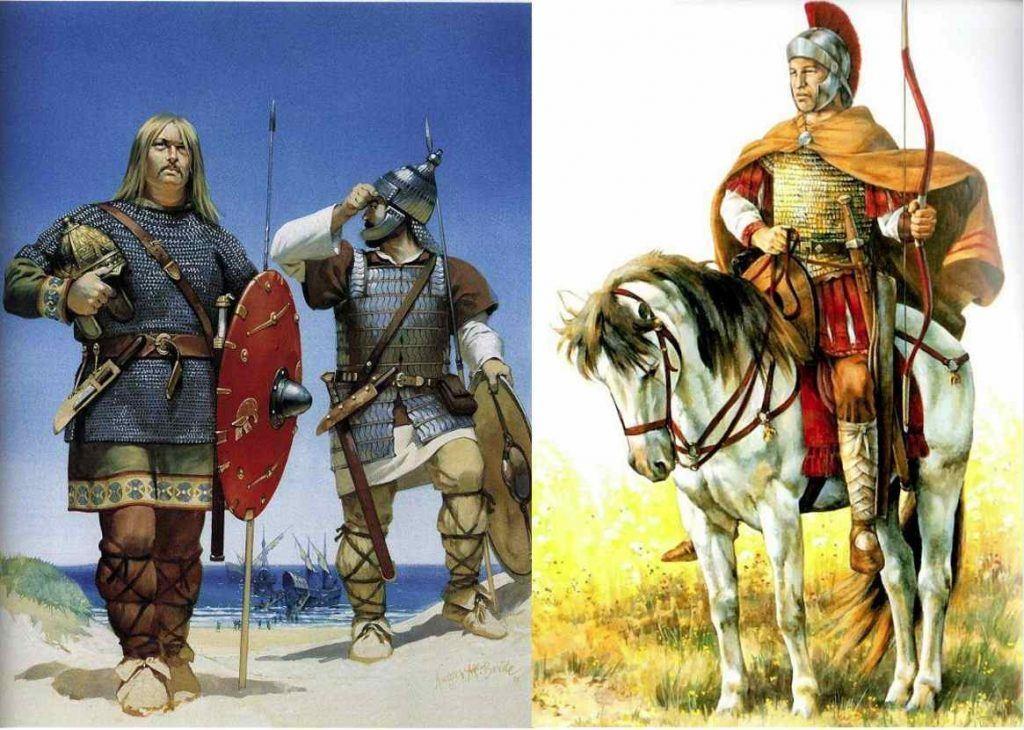 Guerreros vándalos y bizantinos
