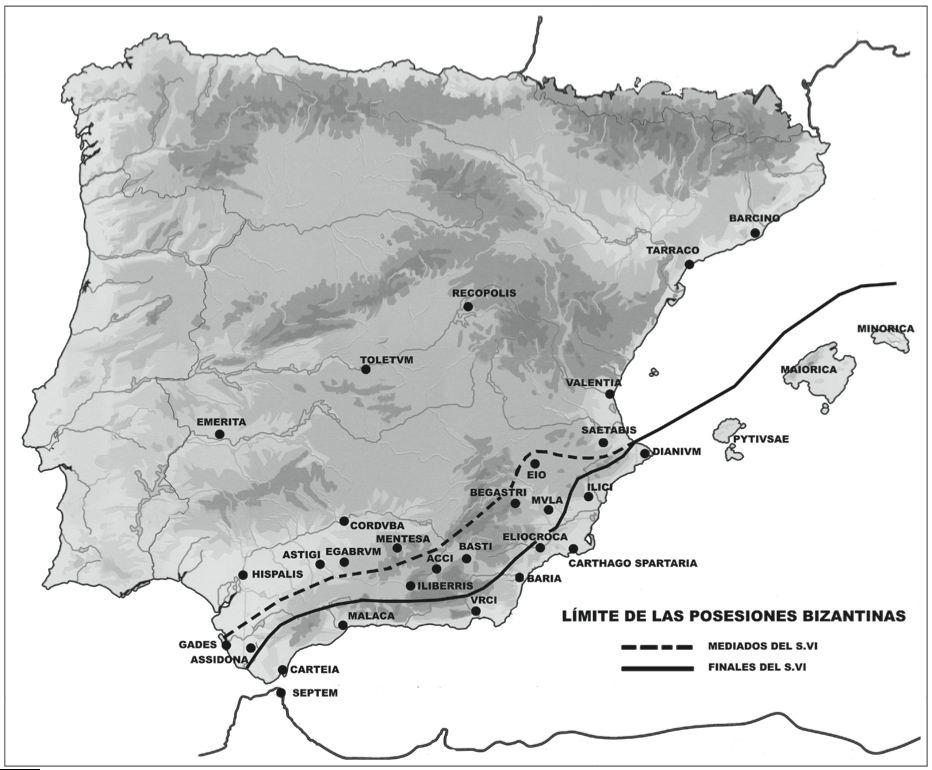 Mapa España bizantina